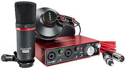 Focusrite Scarlett 2i2 Studio 2nd Generation Bundle Scheda Interfaccia Audio MID