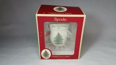 Spode 2014 Annual Baby's First Christmas Ornament-Mitten New In Box