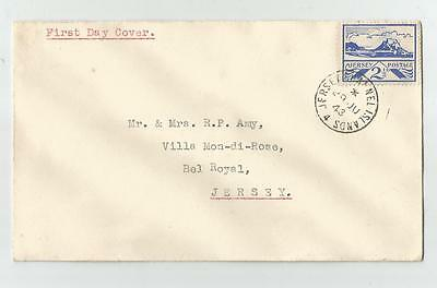 JERSEY OCCUPATION  21/2d FIRST DAY COVER 1943