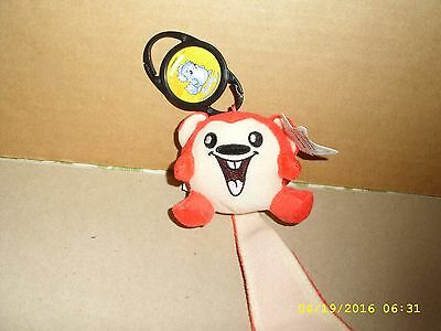 Neopets Plush Red Meerca Limited Edition 2005 Mcdonalds Promotion Key Clip Tags