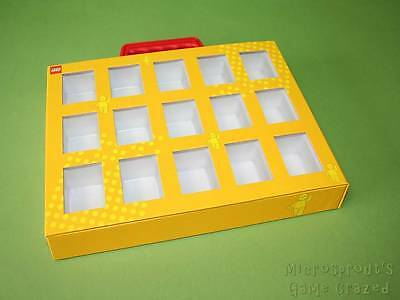 Lego Minifigure Collector's Box / Display Carry Case / Briefcase With Handle VGC