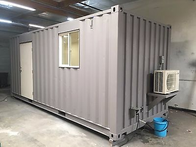 20' Shipping Container Office Tiny Home Cabin Temecula California