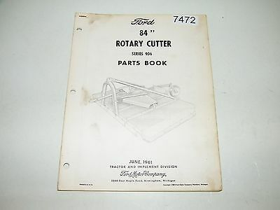 "Ford 84"" Rotary Cutter Series 906 Parts Catalog June 1961 PA-8480"