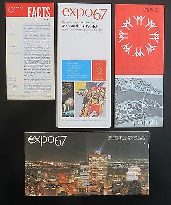 brochures / booklet / leaflet from expo67 Montreal 1967 (4 items)