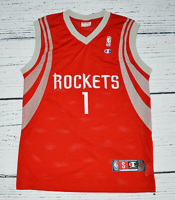 CHAMPION Houston ROCKETS #1 McGRADY Men's Jersey Shirt Trikot NBA !  Gr. S