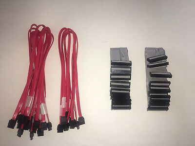 Wholesale Lot 25 Desktop Computer PC Data Cables Pack: SATA/E-IDE & Floppy Drive