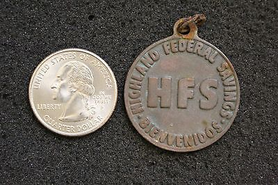 VTG Highland Federal Savings San Gabriel California Keychain Fob