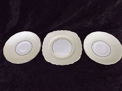 Vintage Colclough China Square Side Plate and 2 x saucers