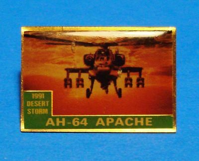 Desert Storm 1991 - Gulf War - Apache Ah 64 Helicopter - Vintage Lapel Pin