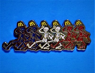 Mcdonald's - Grateful Dead Dancing Skeleton - Limited Ed. Of Only 200 - Rare Pin