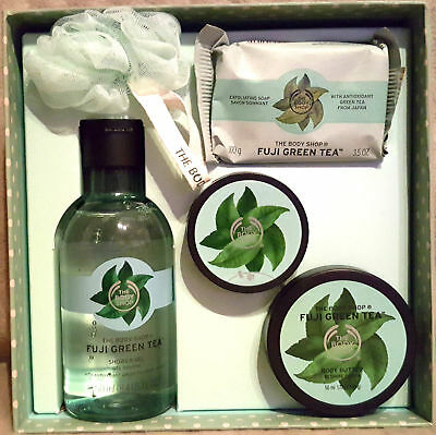 The Body Shop Fuji Green Tea 5Piece Gift Set Instant Glow Body Butter Ideal Gift