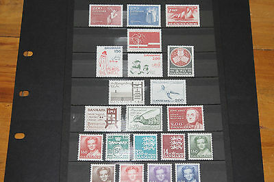 Denmark 1982 Complete Year Set Of 21  Very Fine M/n/h