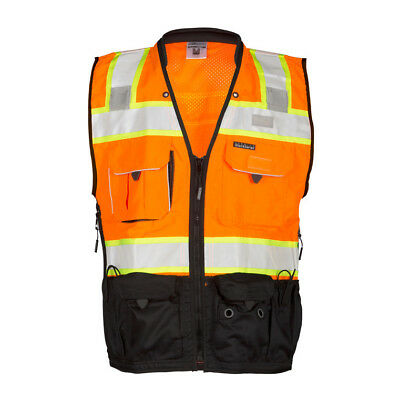 ML Kishigo S5003 Class 2 Orange Surveyors Vest