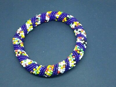 Ethnic African Kenya Masai bead bangle bracelet