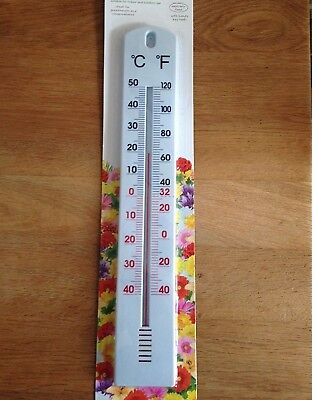LARGE THERMOMETER 40CM Wall Indoor Outdoor WEATHER TEMPERATURE STATION GADGET