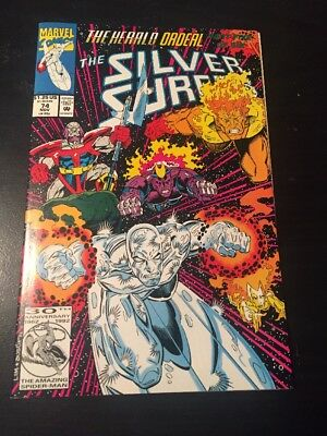 "Silver Surfer#74 Incredible Condition 9.4(1992)""Herald Ordeal"" Ron Lim Art!!"