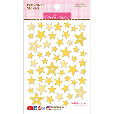 Puffy Star Stickers Bell Pepper Mix PFST-1675