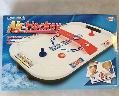 Air Hockey Arena Table Top Game By Super Leader BNIB 21 X 13 Inch