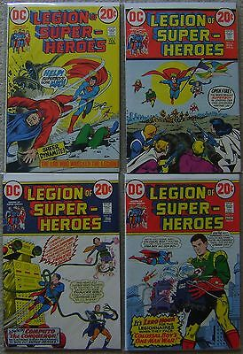 Legion of Super-Heroes #1-4 DC Comics (4) Comic Lot Bronze Age Avg VF Superboy