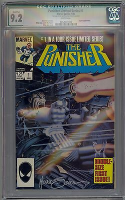 Punisher #1 Cgc 9.2 Nm- Wp Marvel Comics Ltd Series 1986 Qual Signed By Zeck