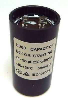 Motor Start Capacitor Round  270-324 uF MFD 220V 250V VAC 46x86mm CD60
