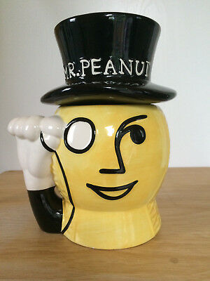 Mr Peanut Cookie Nut Jar Planters Nabisco Classic Collection Black Yellow