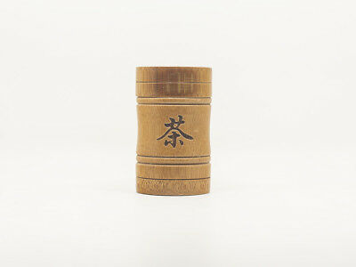 Small Size Chinese Bamboo Gongfu Tea  Canister for Green/Black/Oolong