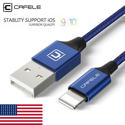 1.2M 2.1A Strong Braided USB Charger Cable Data Sync Cord for iPhone 5 6 7 8Plus