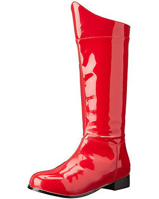 Red Patent Superhero Mens Boots