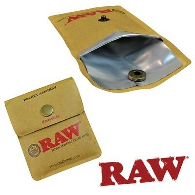Raw Rolling Papers Pocket Ashtray - Tobacco Smoking Cigarette Ashtray Pouch