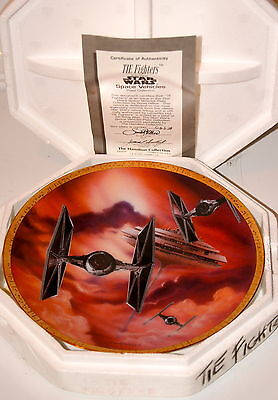 Star Wars TIE-FIGHTER HAMILTON Plate in Box, Certificate of Authenticity