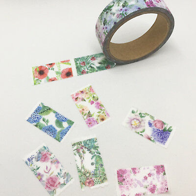 Washi Tape Perforated Floral 15Mm X 5Mtrs Scrap Plan Craft Wrap