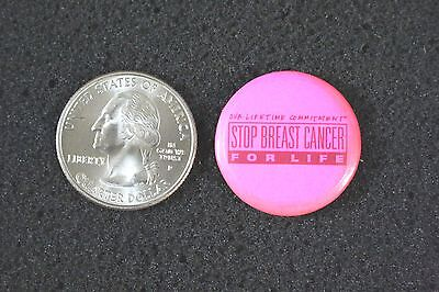 Stop Breast Cancer For Life Lifetime Commitment Pink Pinback Button #10125