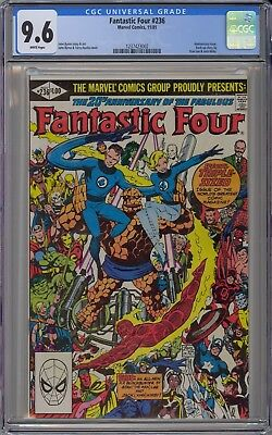 Fantastic Four #236 CGC 9.6 NM+ Wp Marvel 1981 John Byrne 20th Anniversary Issue