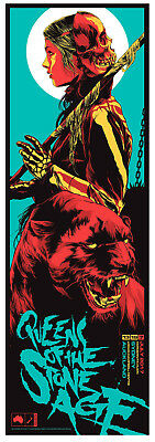 Queens of the Stone Age Sydney Auckland 2017 Red Cat Poster Print Ken Taylor