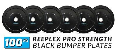 100Kg Olympic Black Bumper Weight Plates Gym Plates For Weightlifting/crossfit