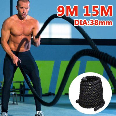 9M/15M 38mm Home Gym Battle Power Rope Exercise Workout Strength Bootcamp NBH