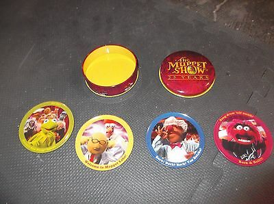The Muppet Show 25 Years 4 Collectable Coasters  Metal Tin Series 1 kermit anima