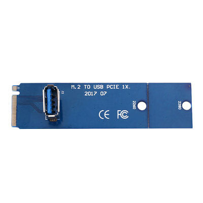 New NGFF M.2 To USB3.0 PCI-E 16x Riser Card Adapter VGA Expansion Cable Wire