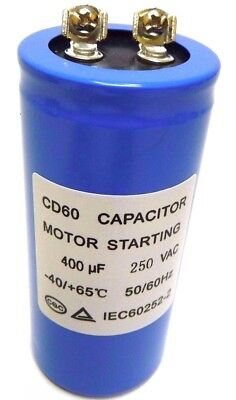 MOTOR STARTING CAPACITOR 400uF 400MFD 250V AC CD60 50x100mm