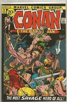 Conan the Barbarian #12 Marvel Bronze Age (1971) Comic FN+/VF- (Barry Smith art)