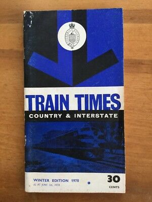 Victorian Railways Winter 1978 Country Time Table