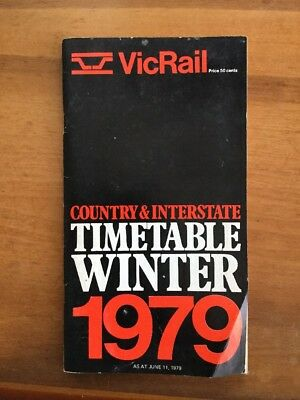 Victorian Railways Winter 1979 Country Time Table