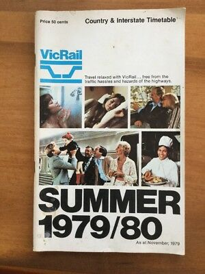 VicRail Summer 1979/1980 Country Timetables