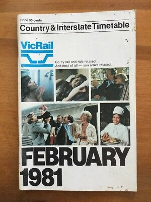 VicRail February 1981 Country Timetables