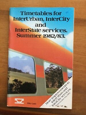VicRail October 1982 Country Timetable
