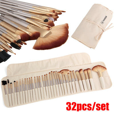 VANDER 32tlg Champagne Beauty Makeup Pinsel Professionell Cosmetic Soft BrushSet