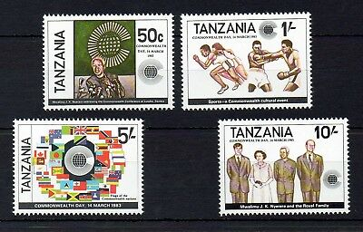 Tanzania 1982 Commonwealth Day MNH set