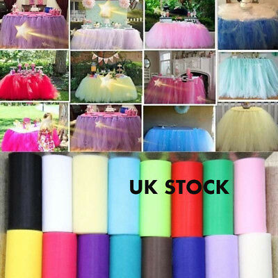 Color Tulle Roll Spool Tutu Dress Fabric Craft Wedding Party Home Gift Box Wrap