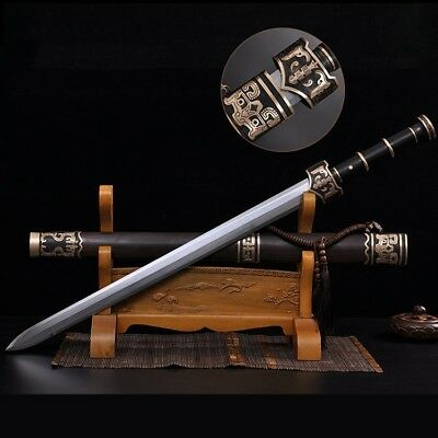 China Han sword Dagger Traditional Hand Forged pattern steel Sharp Edge  #4756